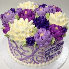 50 shades of purple buttercream cake