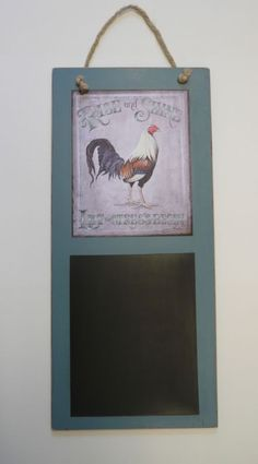 If you're always on the go, you'll wonder how you ever coped without this #handmade cute chicken #chalkboard
