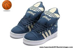 Latest Listing Discount Adidas X Jeremy Scott Big Tongue Shoes Blue White Basketball Shoes Store