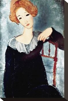 Stretched Canvas Print: Woman with Red Hair Canvas Art by Amedeo Modigliani : Male Figure Drawing, Figure Drawing Reference, Learn Drawing, Anatomy Reference, Hair Canvas, Canvas Art, Amedeo Modigliani, Architecture Tattoo, How To Draw Hair