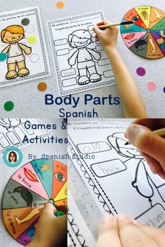 Games and Activities to learn all about Body parts in Spanish Preschool Spanish, Spanish Teaching Resources, Elementary Spanish, Spanish Activities, Spanish Lessons, Hands On Activities, Spanish 101, Spanish Games, Listening Activities