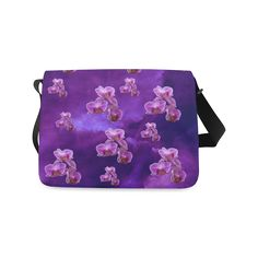 Purple Orchids Messenger Bag. FREE Shipping. #artsadd #bags #flowers