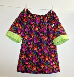 size 4t light peasant dress with long bell sleeves
