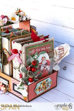 Four seasons Diary Stand G45 Collections Tutorial by Marina Blaukitchen Product by Graphic 45 photo 2.jpg