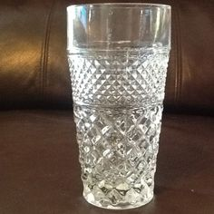 "Vintage Anchor Hocking 'Wexford' Glass Diamond Cut 6 1/8"" Tumbler Glass (11)"