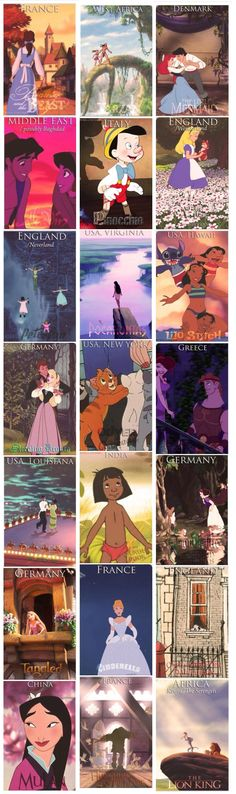 Disney Movie Locations. Wow some of these I had no idea