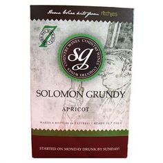 Solomon Grundy Apricot Fruit Wine Kit.