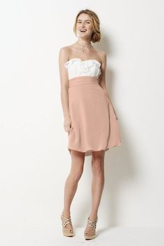 Love this two-tone maids dress by Watters.