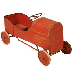1920's Original Paint Metal Toy Pedal Car | From a unique collection of antique…