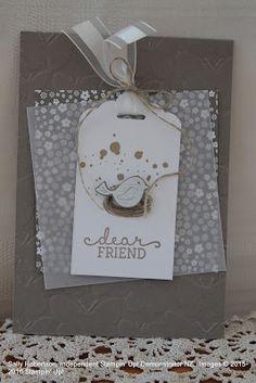 Sally Robertson.  Onstage Display Stamper NZ 2016.  Stampin' Up!  Swirly Bird.  Tip Top Taupe.