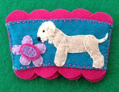 Bedlington terrier coffee cozy by Ecotrinkets / Amy Monthei