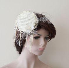 Wedding Accessory Wedding Fascinator Cap Bridal Mini by ADbrdal