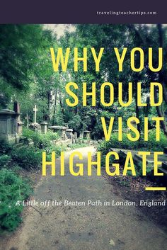 If you are looking for a different, quiet, less touristy place in London, look no further than Highgate. It is a lovely place to spend a morning in London. Travel in Europe.