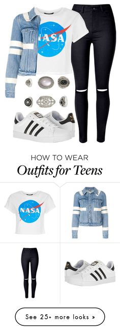 """Untitled #715"" by jakie-garita on Polyvore featuring WithChic, Givenchy, adidas, Topshop and MyFaveTshirt"