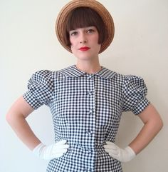 Too cute and I have small scale black and white gingham at home!