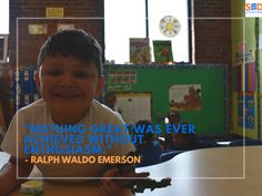 """Nada grande se ha logrado sin entusiasmo."" ~Ralph Waldo Emerson #SEDCenter #Petworth #Achievement #Quotes #DailyQuote #ValueOfTheMonth #RalphWaldoEmerson #SpanishEducation #BilingualEducation"