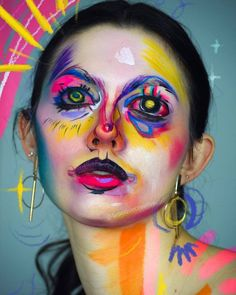 Heres a little color to brighten your day. @brooquecreative created this beautiful look inspired by artist @liizoni using the Paradise Makeup AQ 30 Color Palette Thanks to our friends at @MehronMakeup #mehronmakeup #color #bright #boldcolor #bodypainting #facepainting #creativeart #creativemakeup #avantgardemakeup Mehron Makeup, Special Effects Makeup, Brighten Your Day, Professional Makeup, Bold Colors, Creative Art, Makeup Looks, Halloween Face Makeup, Create