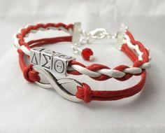 Delta Sigma Theta Infinity Bracelet