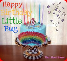 Pint Sized Baker: Rainbow Birthday Cake