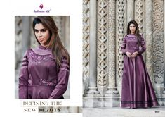 Arihant Designer floret vol 6 long beautiful gown wear collection at wholesale rate Party Wear Gowns Online, Party Wear Long Gowns, Party Wear Kurtis, Designer Wedding Gowns, Designer Gowns, Western Gown, Punjabi Bride, Indian Couture, Beautiful Gowns