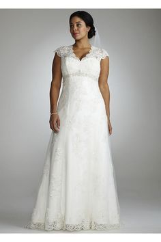 Image result for full A-line dress, with an empire waist and split front plus size