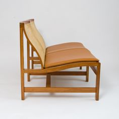 Rud Thygesen and Johnny Sørensen; Cherry, Cane and Leather 'King's Collection' Settee, 1969.