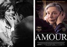 Emmanuelle Riva in 'Hiroshima Mon Amour' by Resnais and 'Amour' by Haneke.