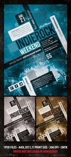 Indie Rock Vintage Concert / Party Flyer / Poster
