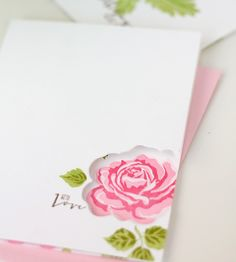 Inside Out Stationery | Damask Love