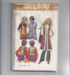 Simplicity 9618 Pattern for Misses' Set of by VictorianWardrobe, $8.00