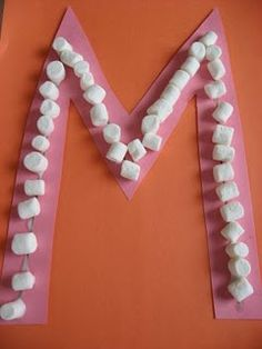 Letter M Day Craft - Marshmallows!  Easy but Oliver will love it!