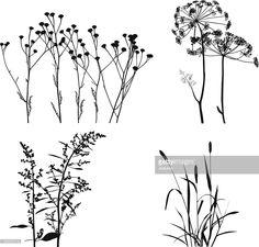 Arte vectorial : Plants Silhouettes
