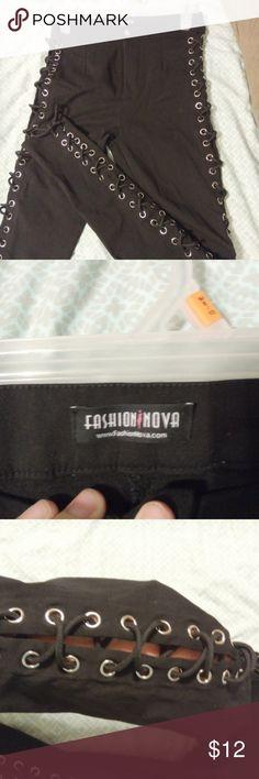 Fashion Nova Side Tie Pants fashion nova side tie pants. never worn. like new. runs small Fashion Nova Pants