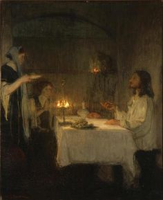 Tanner, Henry Ossawa; Christ at the Home of Mary and Martha, c. 1905