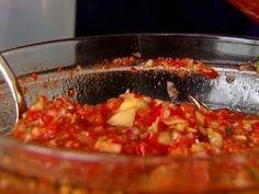 Ina Garten Gazpacho- save some chopped veggies to add texture