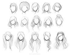 hair reference I cant wait to share my new character drawing class with you all! Its nearly an hour of content for drawing cute female characters. So excited ) Here is a hair reference from class. Pencil Art Drawings, Art Drawings Sketches, Easy Drawings, Art Sketches, Drawings Of Hair, Illustration Sketches, Realistic Drawings, Cartoon Drawings Of Girls, Sketches Of Girls