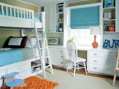 Cool desk.    Traditional | Kids' Rooms | Jennifer Duneier : Designer Portfolio : HGTV - Home & Garden Television