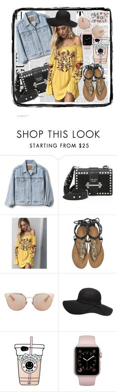 """""""ZZZ"""" by zenfira-memmedli ❤ liked on Polyvore featuring Gap, Prada, Roberto Cavalli and Christian Dior"""