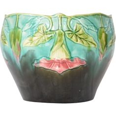 Jardiniere/Cache Pot, Orchies, Majolica, French, 1920.