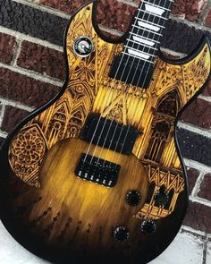 Some more gothic architecture for everybody, finished this one up a few weeks ago. Matching backplates, DiMarzio Transitions, 150 year old…