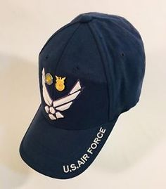 c07c233d25f Details about US Air Force Arnold Wings BallCap Hat W Military Service  Retiree Pins Included