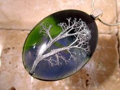 Reindeer Lichen Necklace Moss Jewelry Plant jewellery by Chaerea