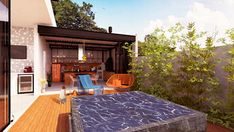 GOURMET + ATELIER : Casas modernas por Macro Arquitetos