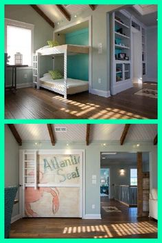 Make your own fold-up bunk beds! http://www.diynetwork.com/blog-cabin/how-to-build-a-side-fold-murphy-bunk-bed/pictures/index.html