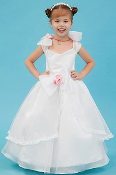 Scoop White Organza Flower Girl Dresses sfp1093 - http://www.shopforparty.com/scoop-white-organza-flower-girl-dresses-sfp1093.html - COLOR: White; SILHOUETTE: Ball Gown; NECKLINE: Scoop; EMBELLISHMENTS: Sash , Bowknot , Flower , Lace; FABRIC: Organza - 92
