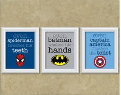 superhero bathroom sets. Superhero wall art for kids bathroom Super Bathroom  Organizations and Kid bathrooms