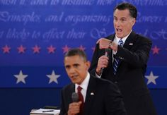 233 Obama and Romney aggressive in second presidential debate  A far more aggressive President Obama showed up for his second debate with Mitt Romney, and at moments their town-hall-style engagement felt more like a shouting match than a presidential debate.    Oct. 16, 2012    At several points during the debate, the candidates