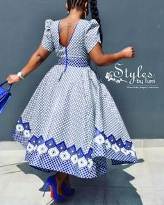 💙💙💙please note all my dresses have cups 😜 Please Call,Whatsapp or email us for all orders and price inquiries… - African Dresses For Kids, African Maxi Dresses, Latest African Fashion Dresses, African Attire, Seshweshwe Dresses, Sotho Traditional Dresses, South African Traditional Dresses, African Print Dress Designs, African Design