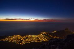Lions head by Gabriela Slegrova, via Flickr Cape Town Tourism, Welcome Images, World Images, World's Most Beautiful, Afrikaans, Lions, South Africa, Travel Destinations, Sunset