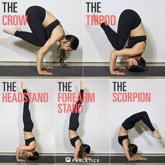 Yoga positions. Helping to keep my motivation up with new workout clothes. #yoga #poses #crow #headstand #scorpion